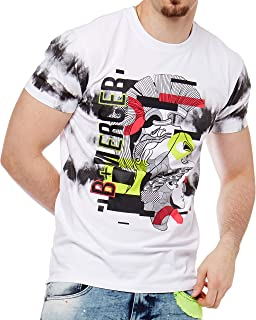 Bleecker and Mercer Mens T Shirts Hip Hop Fashion Tees - Graphic Print - Privileged Chenille Logo- Flower Embroidery