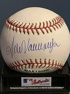 Signed Fernando Valenzuela Baseball - Angles Ud Oml - Autographed Baseballs