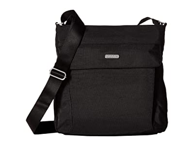 Baggallini All in RFID Hobo (Black/Sand) Handbags