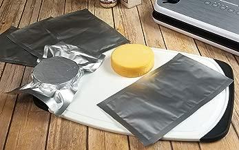 "6""x10"" Mylar Vacuum Sealer Bag - Gen 2.0 Textured/Embossed Aluminum Foil ChannAl Bags – Quart Size Hot/Heat Seal Commercial FDA Grade Food Sealer Bags for Food Storage and Sous Vide (50)"