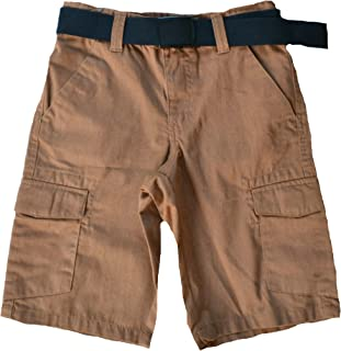 US Giftwear Girls Boys Shorts with 6 Pockets 2T-6x Light Brown