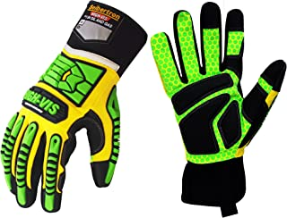 Seibertron HIGH-VIS SDXG2 Dexterity Super Grip GEL Oil & Gas Anti-Vibration Impact Protection Safety Gloves CE EN388 4131 L