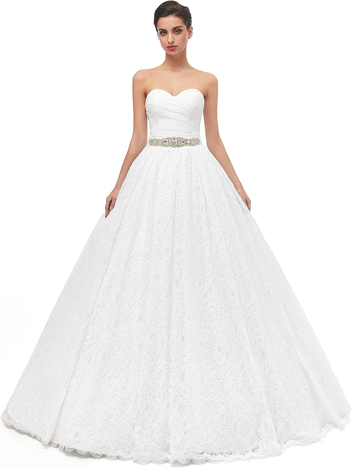 Likedpage Ranking TOP11 Women's Sweetheart Ball Gown Lace Bridal Wedding Dress Fashion