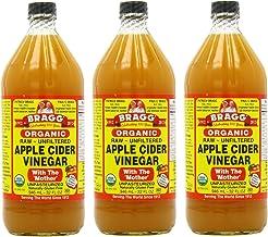 Bragg オーガニック アップル サイダー ビネガー 946 ml (3個セット) [並行輸入品]
