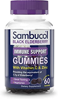 Sambucol Black Elderberry Gummies, 60 Count