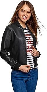 oodji Ultra Women's Faux Leather Bomber Jacket