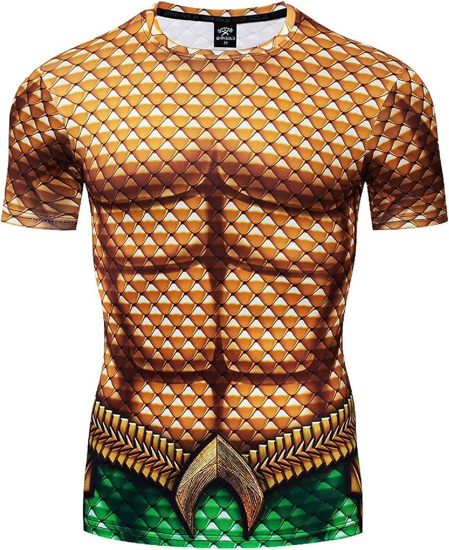 GYM GALA Aquaman Nashville-Davidson Mall Shirt Printed 3D Gifts Compression Men's