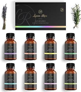 Luana Rose - Set etherische oliën - 100% veganistisch en natuurlijk - 8x diffuser oliën voor aromatherapie - Geschenkset v...