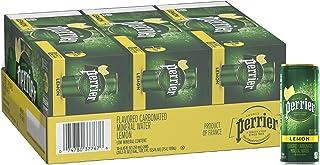 Perrier Lemon Flavored Carbonated Mineral Water, Slim Cans, 8.45 Fl Oz (30 Pack)