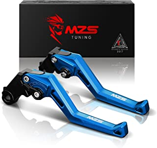 MZS Short Levers Adjustment Brake Clutch CNC for Yamaha FZ07 MT07 14-18/ FZ09 MT09 14-18/ FJ09 15-18/ FZ1 06-13/ FZ6 04-10/ FZ6R 09-15/ FZ8 11-15/ XJ6 09-15/ XSR 700 900 16-18 (Blue)