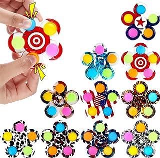 GOHEYI 10 Pack Pop Fidget Spinners, Push Bubble Pop Fidget Toy, Simple Press Spinner for Kids, Handheld Mini Popping Senso...