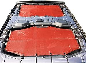 Alien Sunshade Jeep Wrangler Sunshade Jeep JL 4 Door 2-Piece Front & Rear Jeep JL Sunshade Top 2018+ (Cherry Red)
