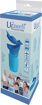 1000 ML weiblich m/ännlich Unisex Reisen Camping Urinal WC Tragbare Kunststoff PE Material Urinal WC mit Stecker Geliefert zuf/ällig Mini Outdoor Camping Reise pers/önliche Mobile Toilette