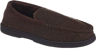 26 Accessories Mens Moccasin House Shoes, Memory Foam Indoor Outdoor Bedroom Slippers