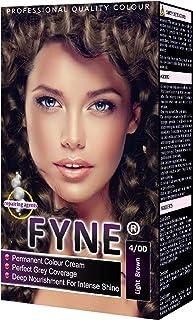 FYNE Light Brown Permanent Hair Colour Cream, A Home Hair