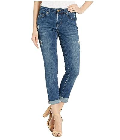Jag Jeans Carter Girlfriend Crosshatch Denim Jeans (Thorne Blue) Women