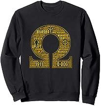 Mens Omega 1911 Psi Words Hand Sign Phi Bull Dog Sweatshirt