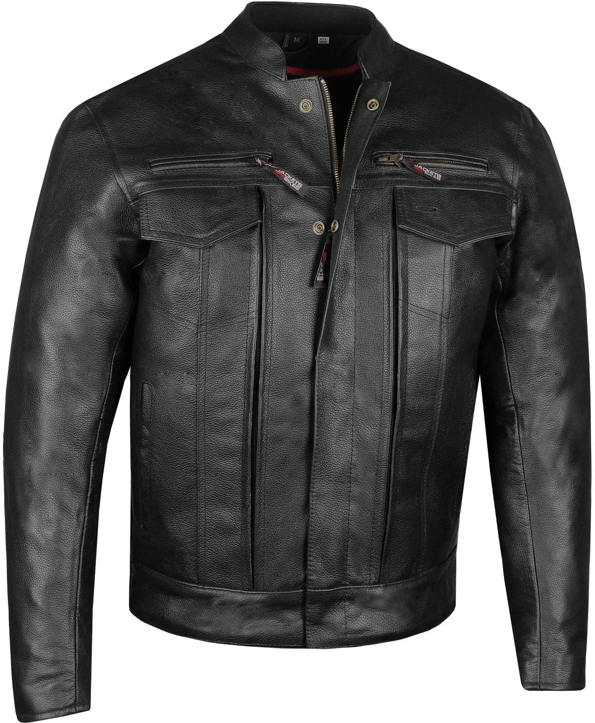 Men's Commuter 40% OFF Cheap Sale Premium Natural Armor Buffalo Leather Motorcycle Rapid rise