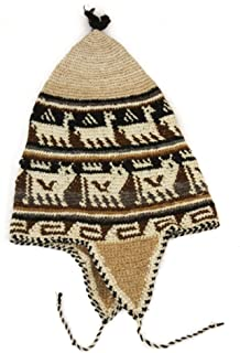 Gorro de croché con orejeras (alpaca)