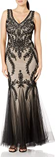 Women's Embroidered Tulle Gown