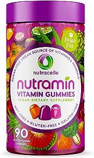 NUTRAMIN Daily Vegan Keto Multivitamin Gummies Vitamin C, D3, and Zinc for Immunity,..