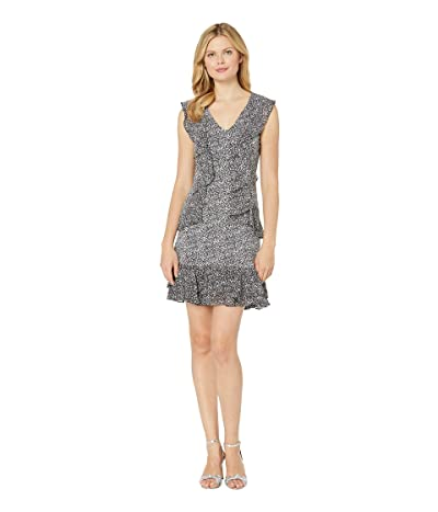 MICHAEL Michael Kors Spring Time Cascade Dress (Black/White) Women