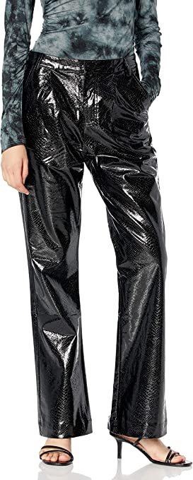 KENDALL + KYLIE Women's Vegan Leather Wide Leg Pant