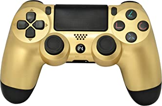 Best Chasdi Ps4 Controller V2 Wireless Bluetooth with USB Cable for Sony Playstation 4 Compatible with Windows Pc & Android Os (Gold) Review