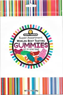 Happy Yummies Worlds Best Tasting Gourmet Gummies All In One Assortment 7oz