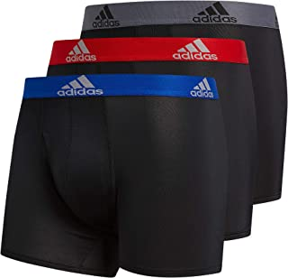 Men's Sport Performance Mesh Long Boxer Brief Underwear (3-Pack)