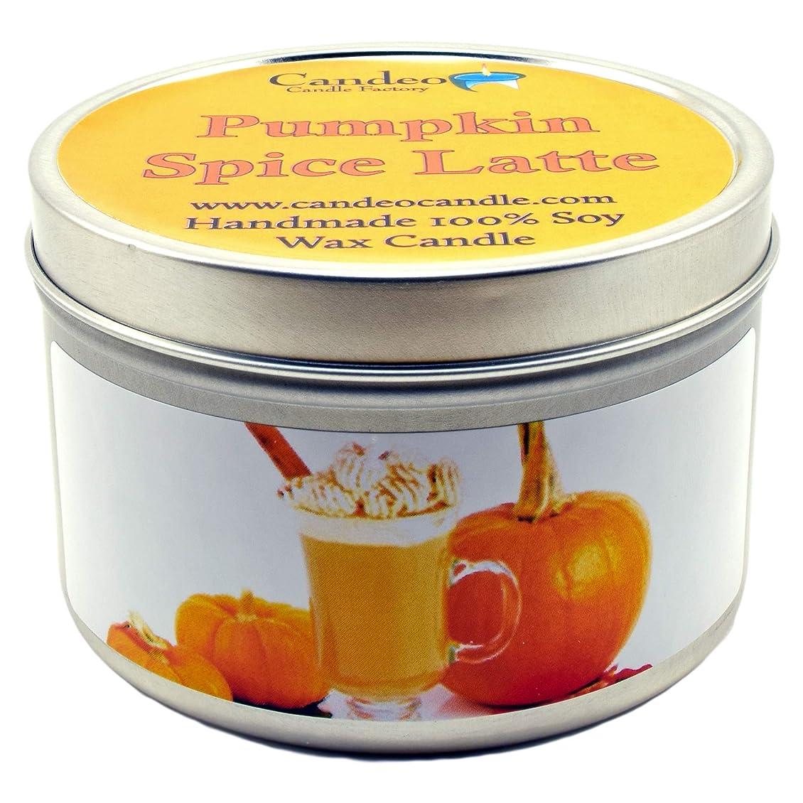 不適当土砂降り地図(180ml) - Pumpkin Spice Latte, Super Scented Soy Candle Tin (180ml)