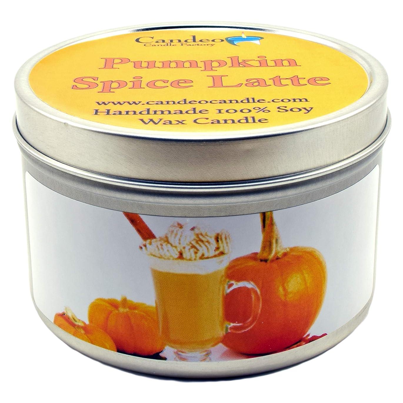 食用アジャ甘い(180ml) - Pumpkin Spice Latte, Super Scented Soy Candle Tin (180ml)