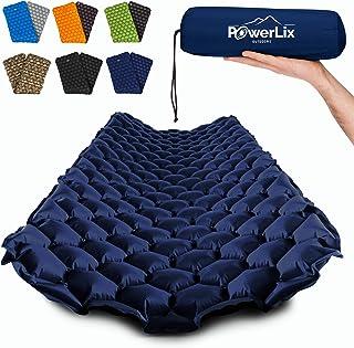 وسادة نوم باورليكس - بساط نوم خفيف للغاية قابل للنفخ، أفضل وسادة خدمة ذاتية للتخييم، حقيبة الظهر، المشي لمسافات طويلة - وس...
