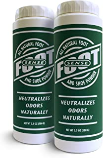 Natural Shoe Deodorizer Powder & Foot Odor Eliminator - for Smelly Shoes, Body, Stinky Feet. Use for Jock Itch and Athlete...