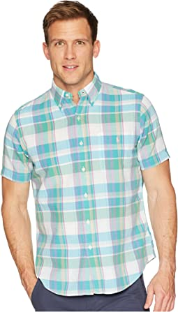 Madras Short Sleeve Sport Shirt