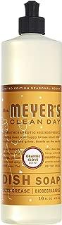 Mrs. Meyer's Clean Day Dish Soap, 16 fl oz (Orange Clove, Pack - 1)