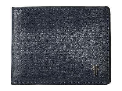 Frye Austin Slim ID Bifold (Navy) Handbags