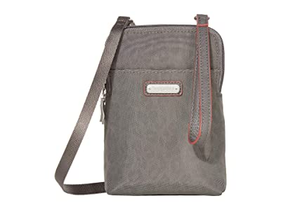 Baggallini New Classic Take Two RFID Bryant Crossbody (Pewter Cheetah Emboss) Handbags