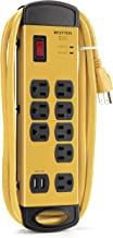BESTTEN 1350-Joule Heavy Duty Metal Power Strip Surge Protector with 10-Foot Long Extension Cord, 8 Grounded Outlets and Dual USB Charging Ports, ETL Listed