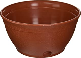 EMSCO Expandable Hose Hider – Expandable Hose Storage Pot – Rustic Terra Cotta