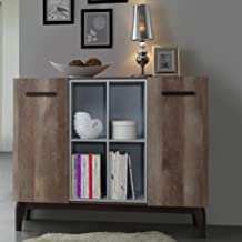 Maison Concept Morgan Cabinet, Brown and Grey - H 980 x W 400 x D 1200 mm