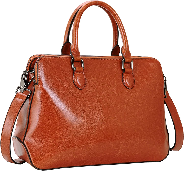 Vintage Handbags, Purses, Bags *New* Heshe Leather Womens Handbags Totes Top Handle Shoulder Bag Satchel Ladies Purses $69.90 AT vintagedancer.com
