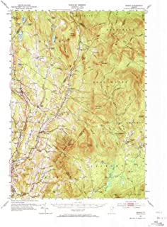 YellowMaps Burke VT topo map, 1:62500 Scale, 15 X 15 Minute, Historical, 1951, Updated 1973, 21.8 x 18 in