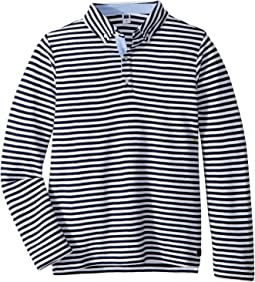 Long Sleeve Stripe Polo (Toddler/Little Kids/Big Kids)