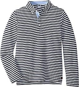 Long Sleeve Stripe Polo (Toddler/Little Kids/Big Kids)