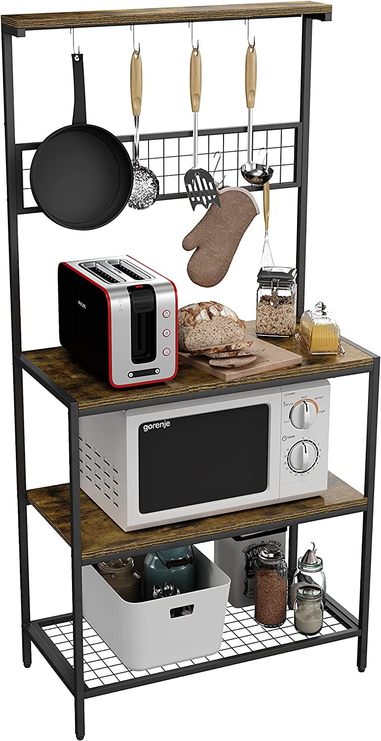 Gadroad Baker's Rack Animer and price revision 66.9 inch Microwave Oven Utility 5 popular with Stand