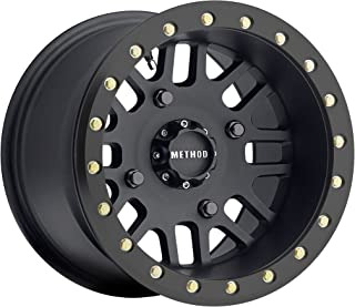Method Race Wheels MR406 Matte Black Wheel with Grade 8 Beadlock Bolts (15x8