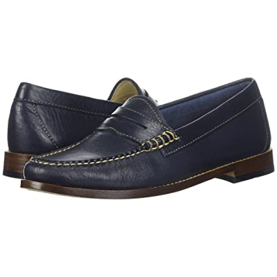 G.H. Bass & Co. Whitney Weejuns (Navy Soft Tumbled Leather) Women