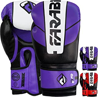 FARABI Pro Safety Tech Fighter MMA, Muay Thai Training Sparring Boxing Kickboxing Punching Gloves Mitts