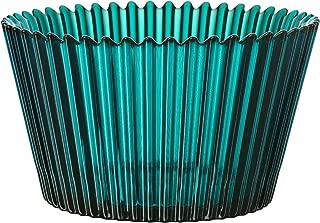 Kosta Boda Cupcake Bowl, 4 by 7-Inch, Turquoise